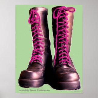 Roze Laarzen Poster