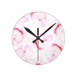 Roze laurier ronde klok
