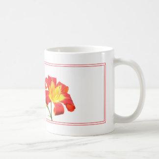 Roze Lelie op Wit Koffiemok
