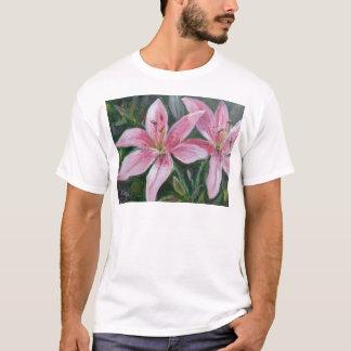 Roze lelies t shirt
