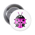 Roze Lieveheersbeestje Speld Button