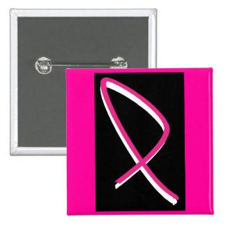 Roze Lint II van de Voorlichting van Kanker van de Speldbuttons