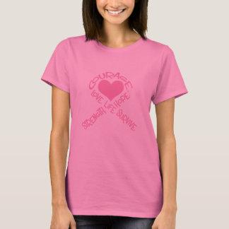 Roze Lint van het Lange Sleeve van Kanker van de T Shirt
