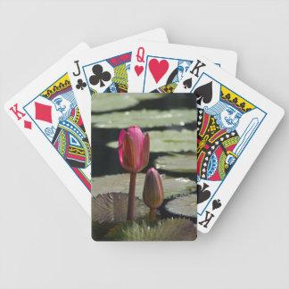 Roze Lotus Waterlily en de Speelkaarten van de Pak Kaarten