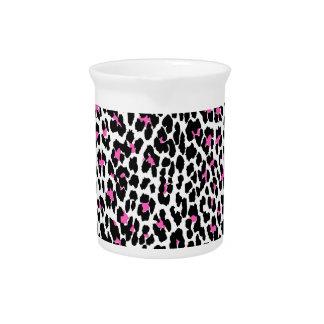roze luipaarddruk pitcher
