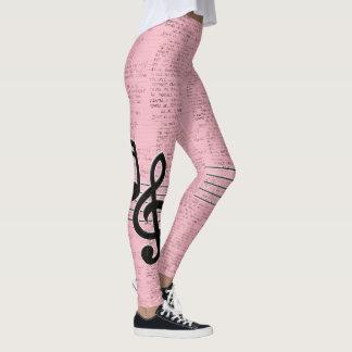 Roze Lyrisch gedicht Leggings
