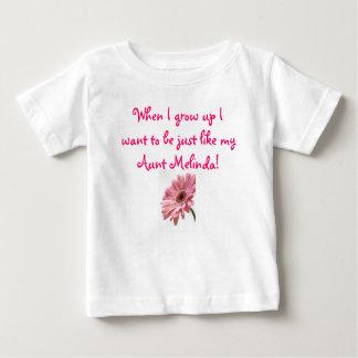 roze madeliefje, wanneer ik groei wil ik enkel Li… Baby T Shirts