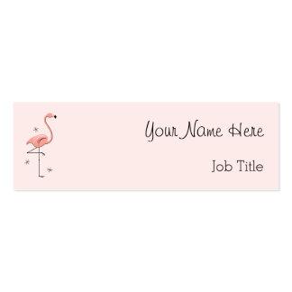 Roze magere het visitekaartje zijtekst van de