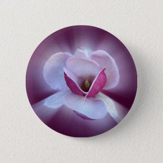 roze magnoliaschaduwen ronde button 5,7 cm