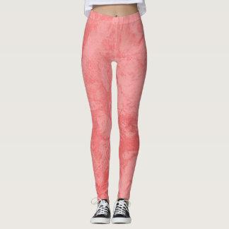 Roze Marmeren Plons Leggings