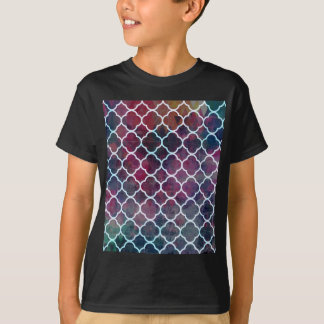 Roze Marokkaanse Stijl Grunge T Shirt