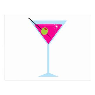 Roze Martini Briefkaart