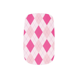 Roze Minx Argyle Spijkers Minx Nail Folie