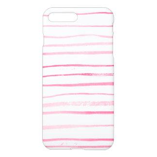 Roze moderne de waterverfhand van Girly - gemaakte iPhone 8/7 Plus Hoesje