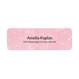 Roze Moderne Duidelijke Minimalistische Beroeps Etiket