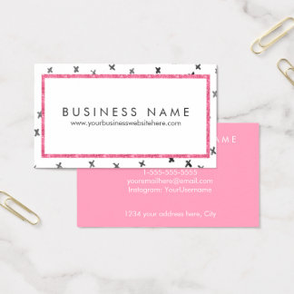 Roze Moderne Glam Visitekaartjes