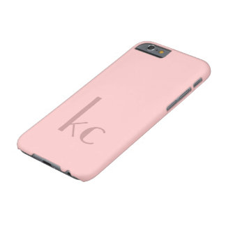 Roze monogramtypogtaphy barely there iPhone 6 hoesje