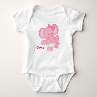 Roze Olifant van het Baby van het kind de Leuke Romper