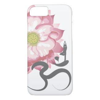 Roze Om van de Yoga van de Bloem van Lotus Indisch iPhone 7 Hoesje