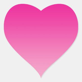 Roze Ombre Hart Sticker