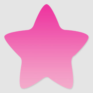 Roze Ombre Ster Sticker