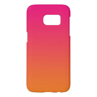 Roze & Oranje Ombre Samsung Galaxy S7 Hoesje