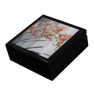 Roze Orchideeën Cymbidium Bloemen Vierkant Opbergdoosje Large
