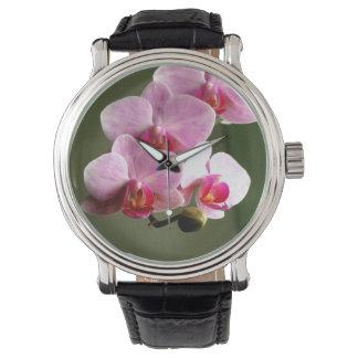 Roze Orchideeën Horloge
