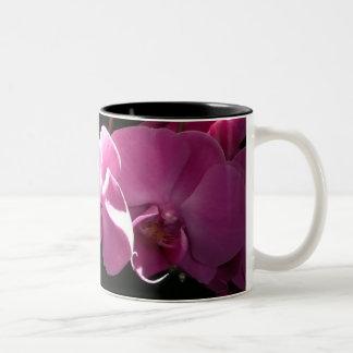 Roze Orchideeën Tweekleurige Koffiemok