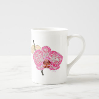 Roze orchideemok theekop