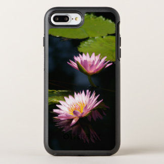 Roze Paars Lotus Waterlilies OtterBox Symmetry iPhone 7 Plus Hoesje