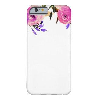 Roze Paarse Heldere Moderne Elegante Bloemen Barely There iPhone 6 Hoesje
