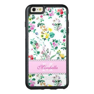 Roze paarse rode gele wildflowers & rozen, naam OtterBox iPhone 6/6s plus hoesje