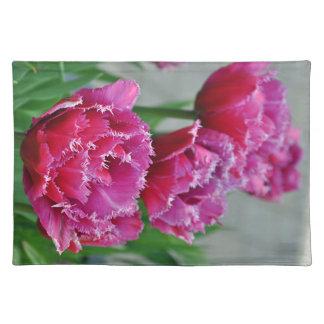 Roze papegaaitulpen placemat