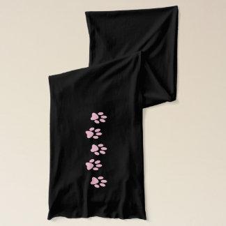 Roze Pawprint de minnaarsjaal van de Sjaal