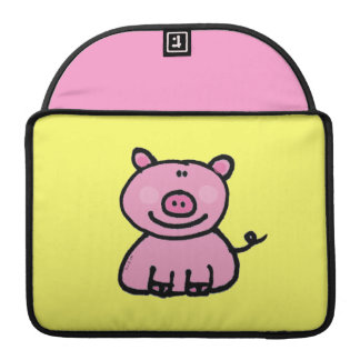 roze piggy MacBook pro sleeve