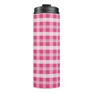 Roze Plaid Thermosbeker