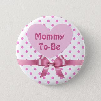 Roze Polka Gestippelde Mama om de Knoop van het Ronde Button 5,7 Cm