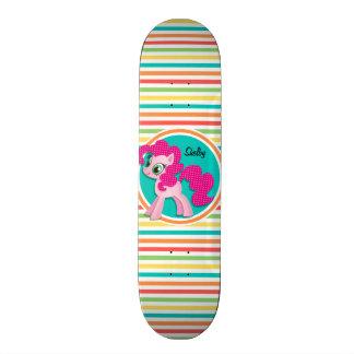 Roze Pony; De heldere Strepen van de Regenboog 20,6 Cm Skateboard Deck