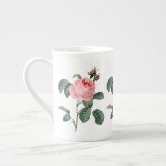 Roze Rosa Centifolia door Redoute Bone China Mok