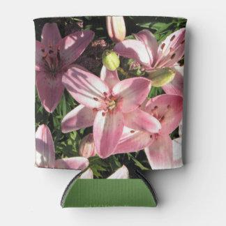 Roze, Roze Witte Aziatische Lelies Blikjeskoeler