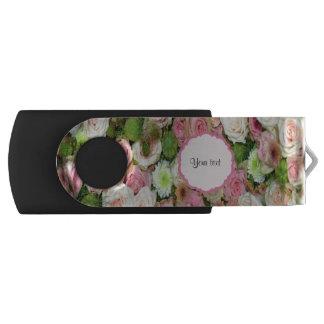 Roze Rozen & Chrysanten Swivel USB 3.0 Stick