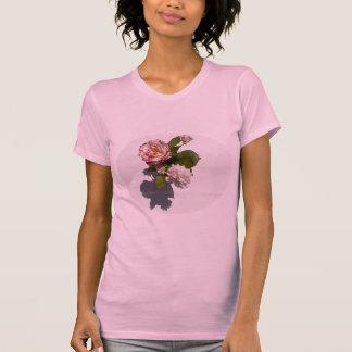 Roze Rozen op T-shirt