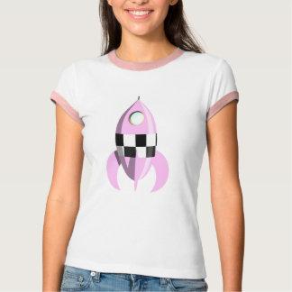 Roze RuimteRaket T Shirt
