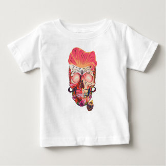 roze schedel baby t shirts