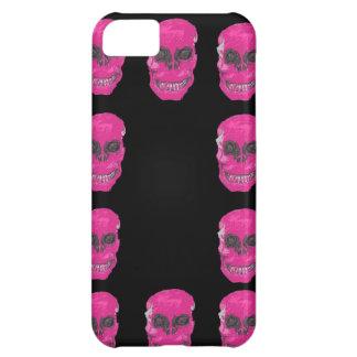 Roze schedel, iphonehoesje iPhone 5C hoesje