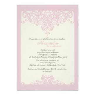Roze Sier Godsdienstige Uitnodiging