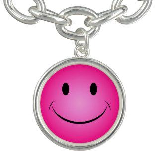 Roze Smiley Bedel Armbandjes