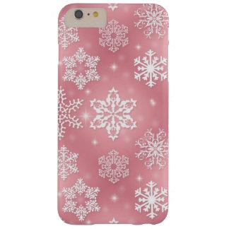 Roze sneeuwvlokiPhone 6 plus nauwelijks daar Barely There iPhone 6 Plus Hoesje