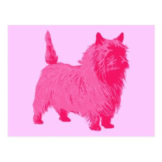 Roze Steenhoop Terrier Briefkaart